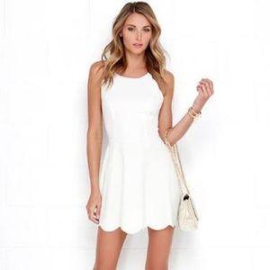White lulu dress XS